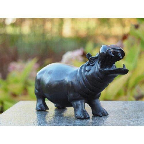 Bronzartes bronzen beeld 'Nijlpaard'
