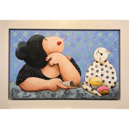 Susan Ruiter schilderij 'All mine!!'