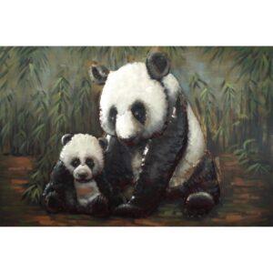 Metal Art 3D schilderij 'Panda'
