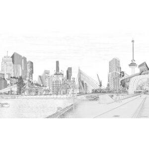QphotoArt digital photoline Art 'Rotterdam'