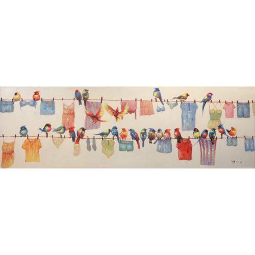 Schilderij 'De schone was