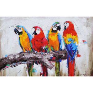Schilderij 'Papegaaien'