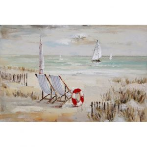 Schilderij 'Strandstoelen'