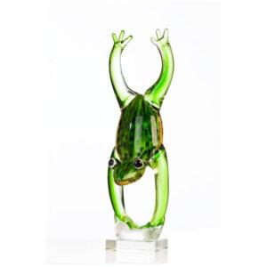 Vetro glas beeld 'Handstand Kikker'