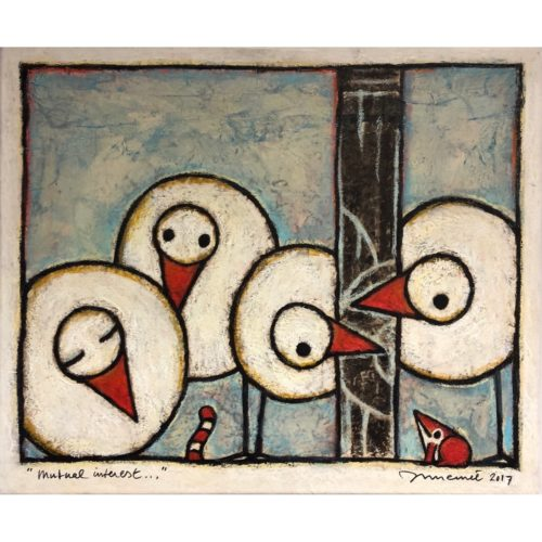 Hans Innemee schilderij 'Mutual interest...'