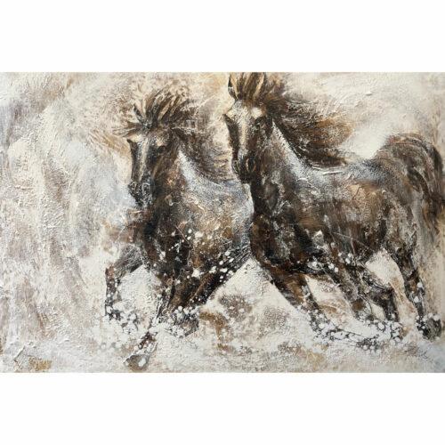 Schilderij 'Paarden'