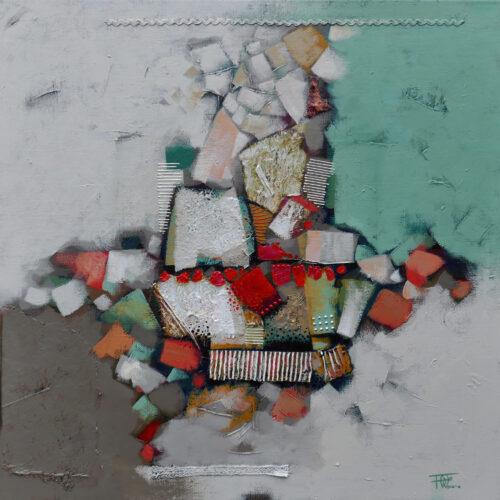 Fred Wieser schilderij 'Abstract II'