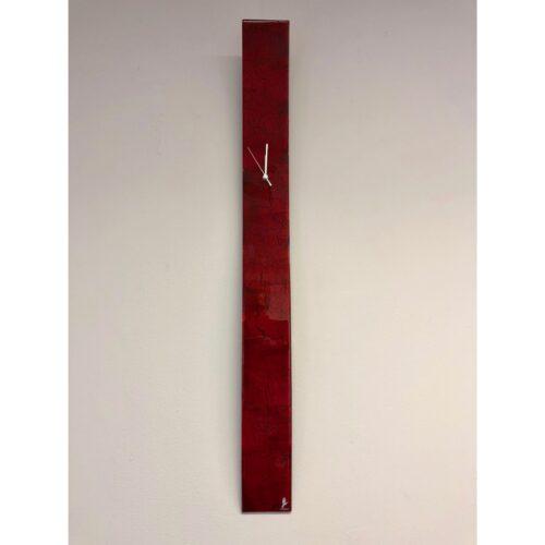 Carneol glazen langwerpige klok 'Crackled Red'