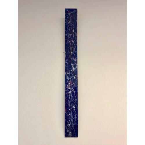 Carneol glazen langwerpige klok 'Pollock Blue'