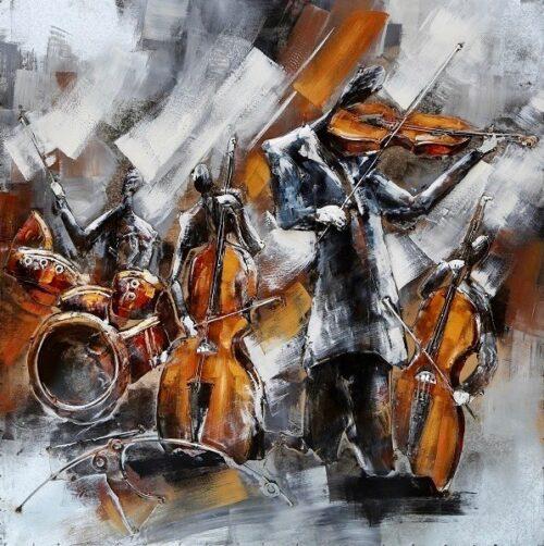 Metal Art 3D schilderij 'Orkest'