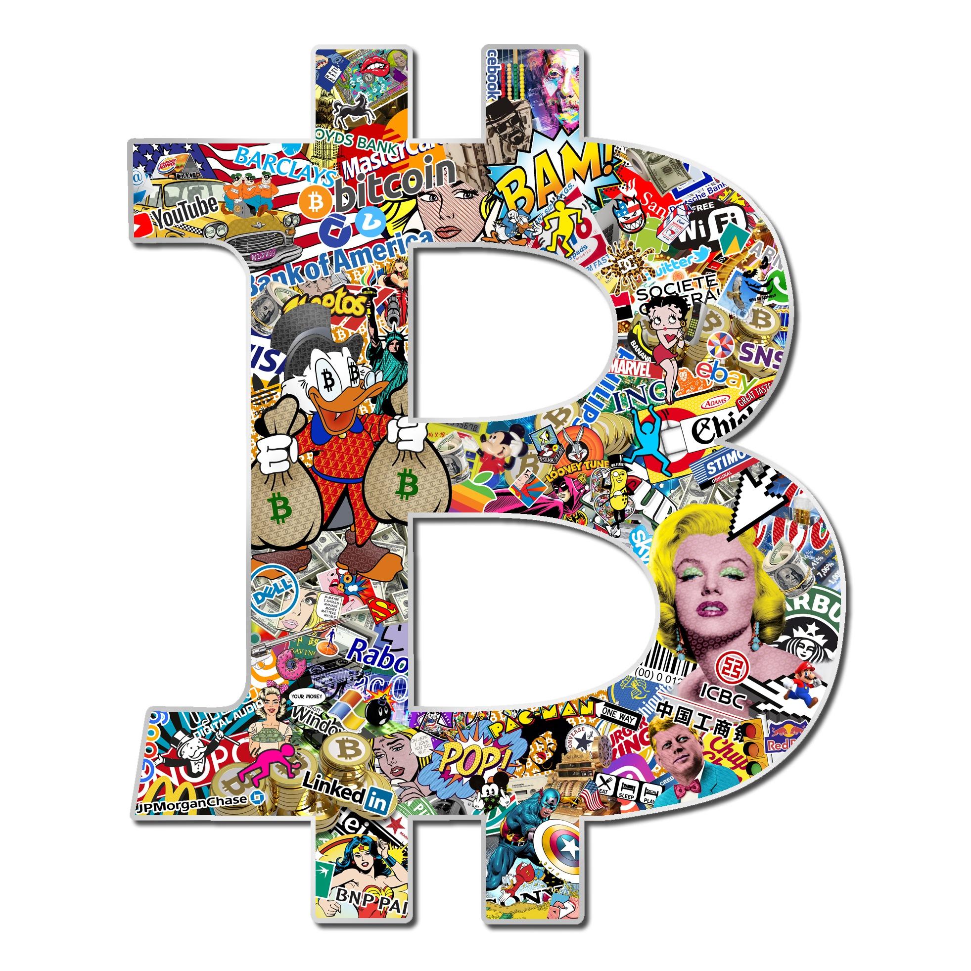Michael Daniels POP-ART 'Bitcoin' (L)