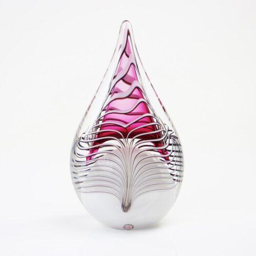 Loranto Kristal glas druppel spiraal 'Rood'