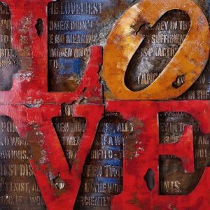 Metal Art 3D schilderij 'LOVE'