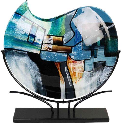 Design glas handbeschilderd Vaas maanvorm 'Cool Melissa'