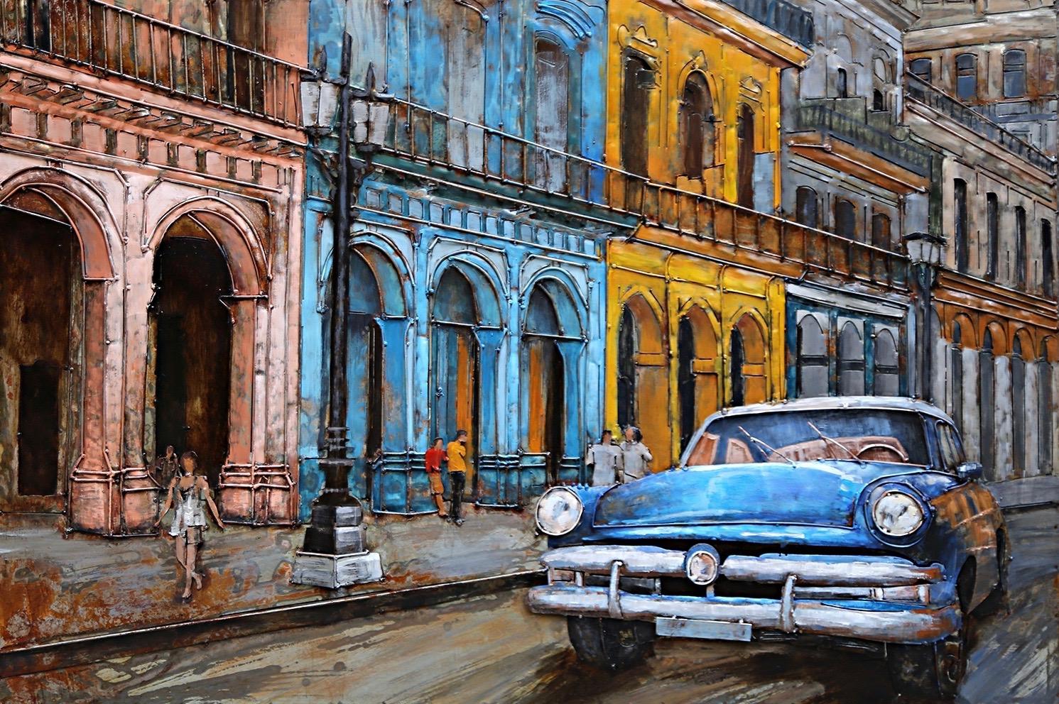 Metal Art 3D schilderij 'Cuba'