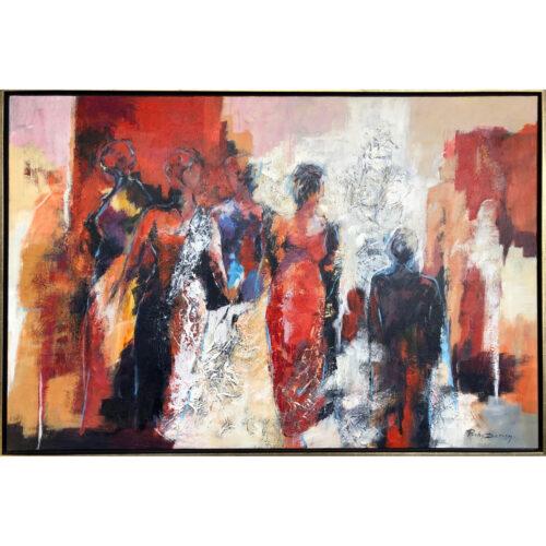 Ricky Damen schilderij 'Good Company'