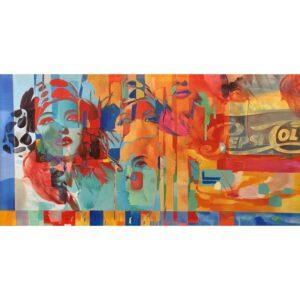 DecoArt schilderij 'Faces'