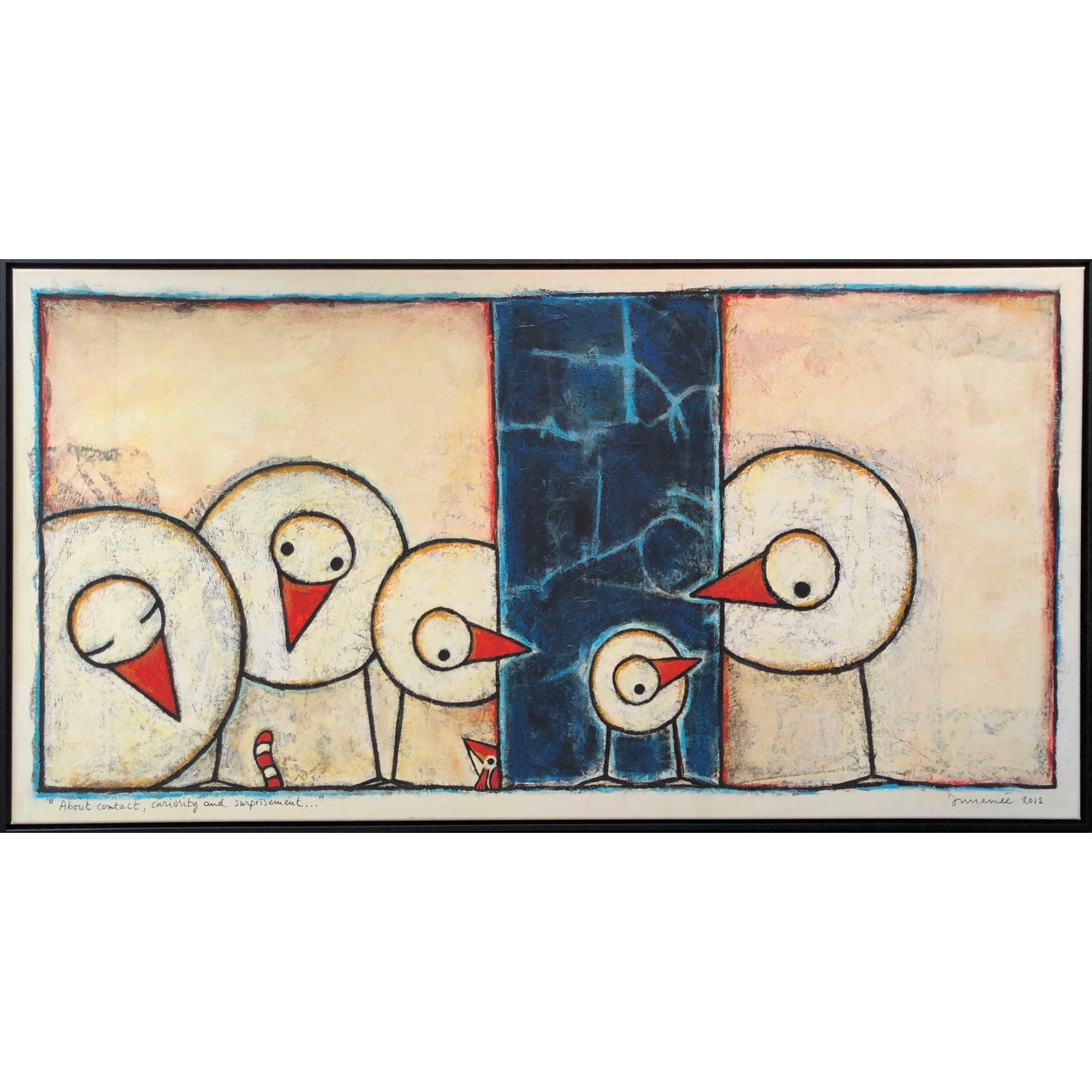 Hans Innemee Giclée 'About contact, curiosity and surprisement'