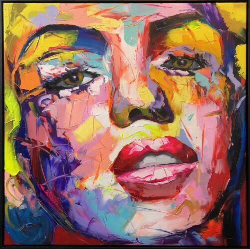 DecoArt schilderij 'Colorful Face' is een vrolijk schilderij van een vrouwen gezicht in mooie frisse kleuren.