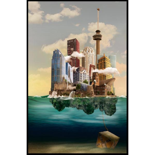 Sander du Floo fotocompilatie 'Rotterdam Blue Sky'