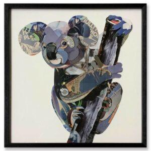 Schilderij Paper Art 'Koala beer'