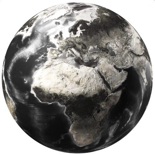 Foto op glas rond 'Wereldbol'