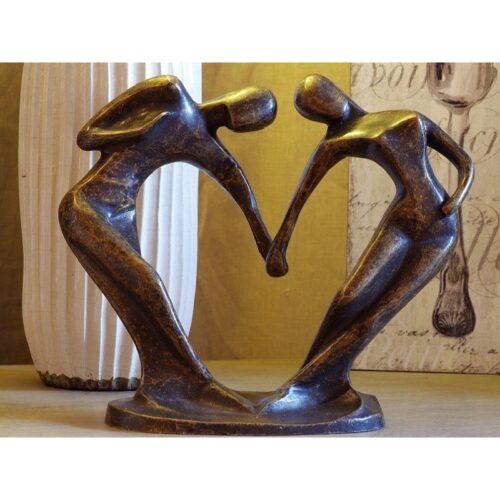 Bronzartes bronzen beeld 'Happy Couple'