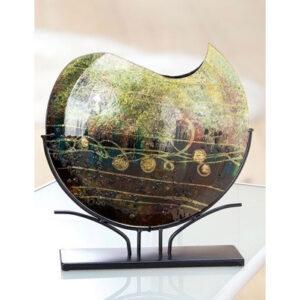 Design glas handbeschilderd Vaas maanvorm 'Paluda'