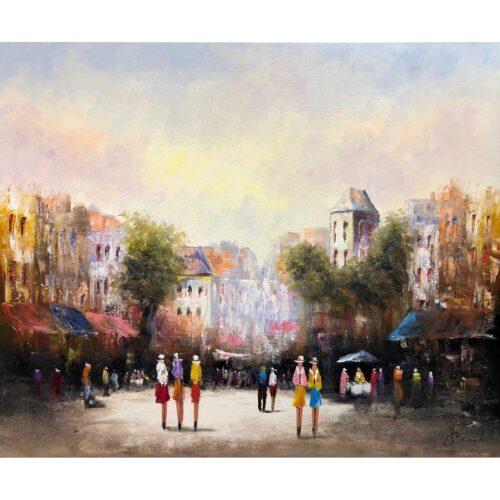Henry Brand schilderij 'Plein'