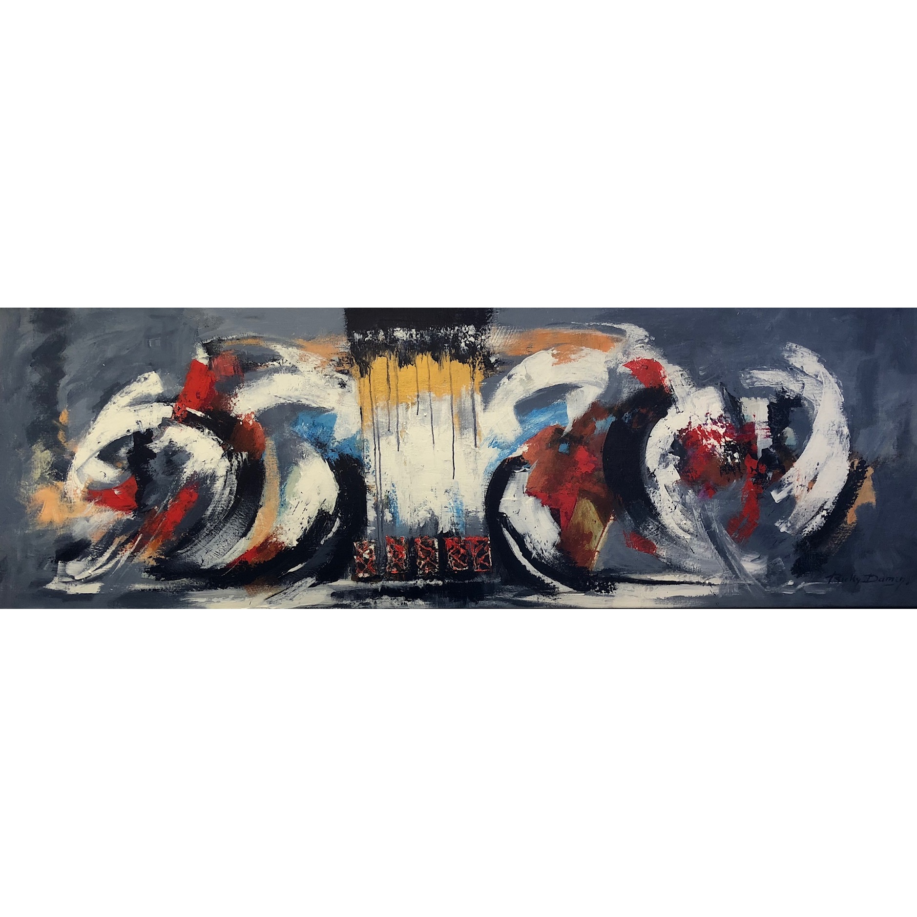 Ricky Damen schilderij 'Powerful'