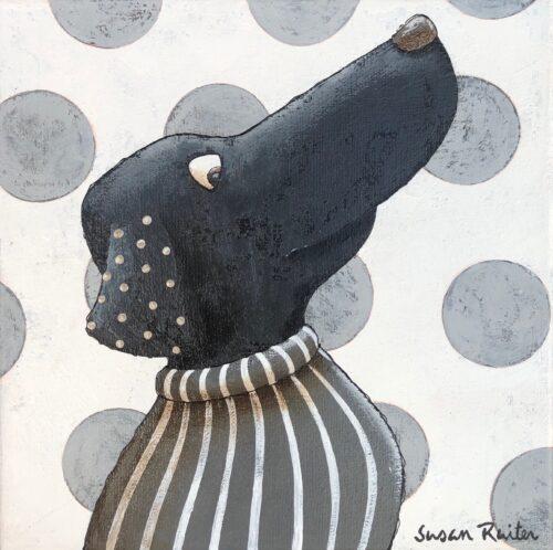 Susan Ruiter tegeltje 'Silly Dog II'