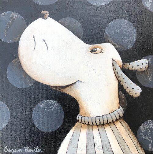 Susan Ruiter tegeltje 'Silly Dog I'
