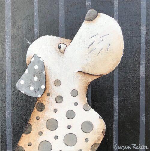 Susan Ruiter tegeltje 'Silly Dog III'