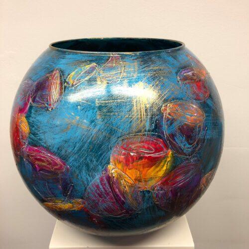 Gilazi By Mariel glazen vaas 'Tulip bol max'