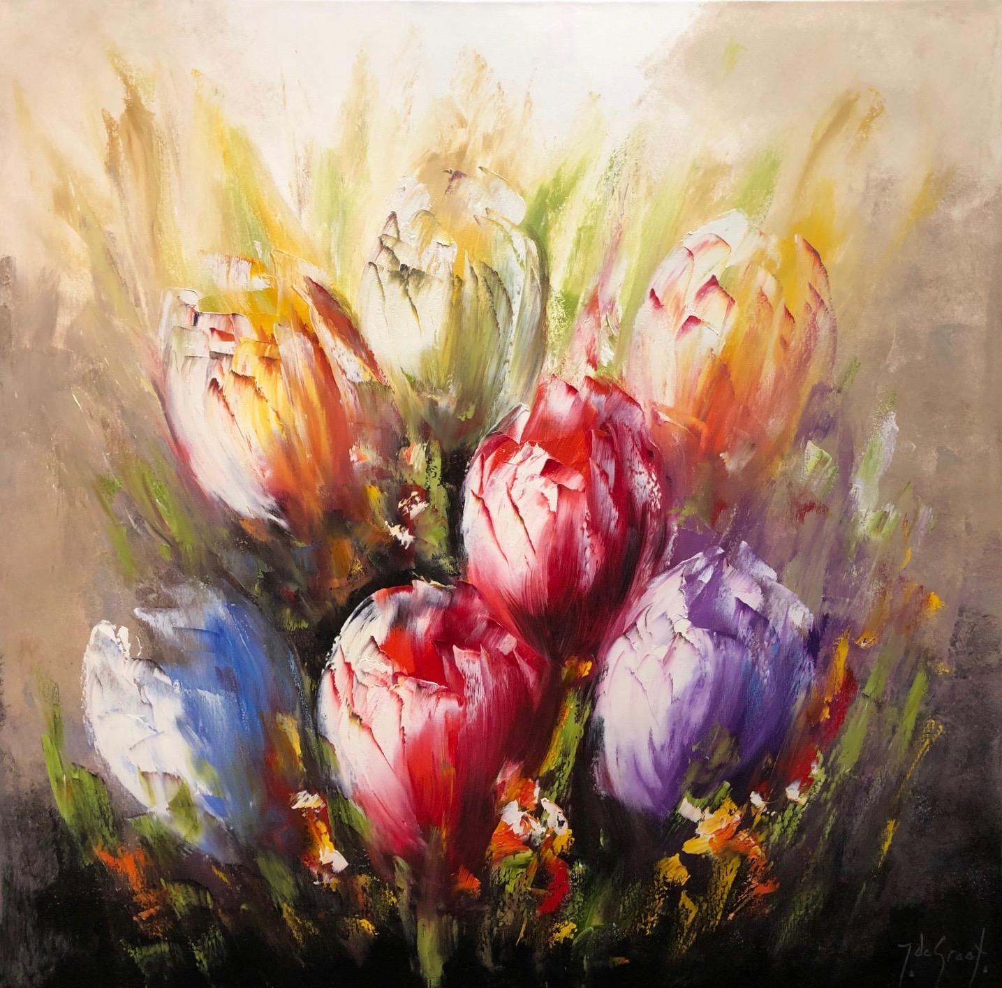 Jochem de Graaf schilderij 'Tulips II'