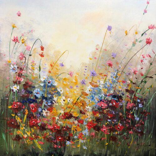 Jochem de Graaf schilderij 'Flowers II'