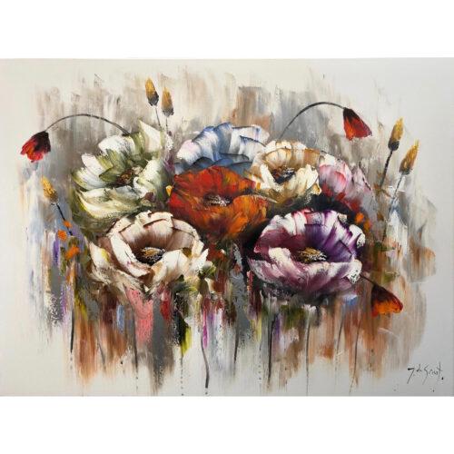 Jochem de Graaf schilderij 'Rozen'