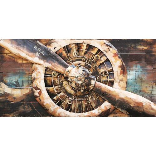 Metal Art 3D schilderij 'Propeller'