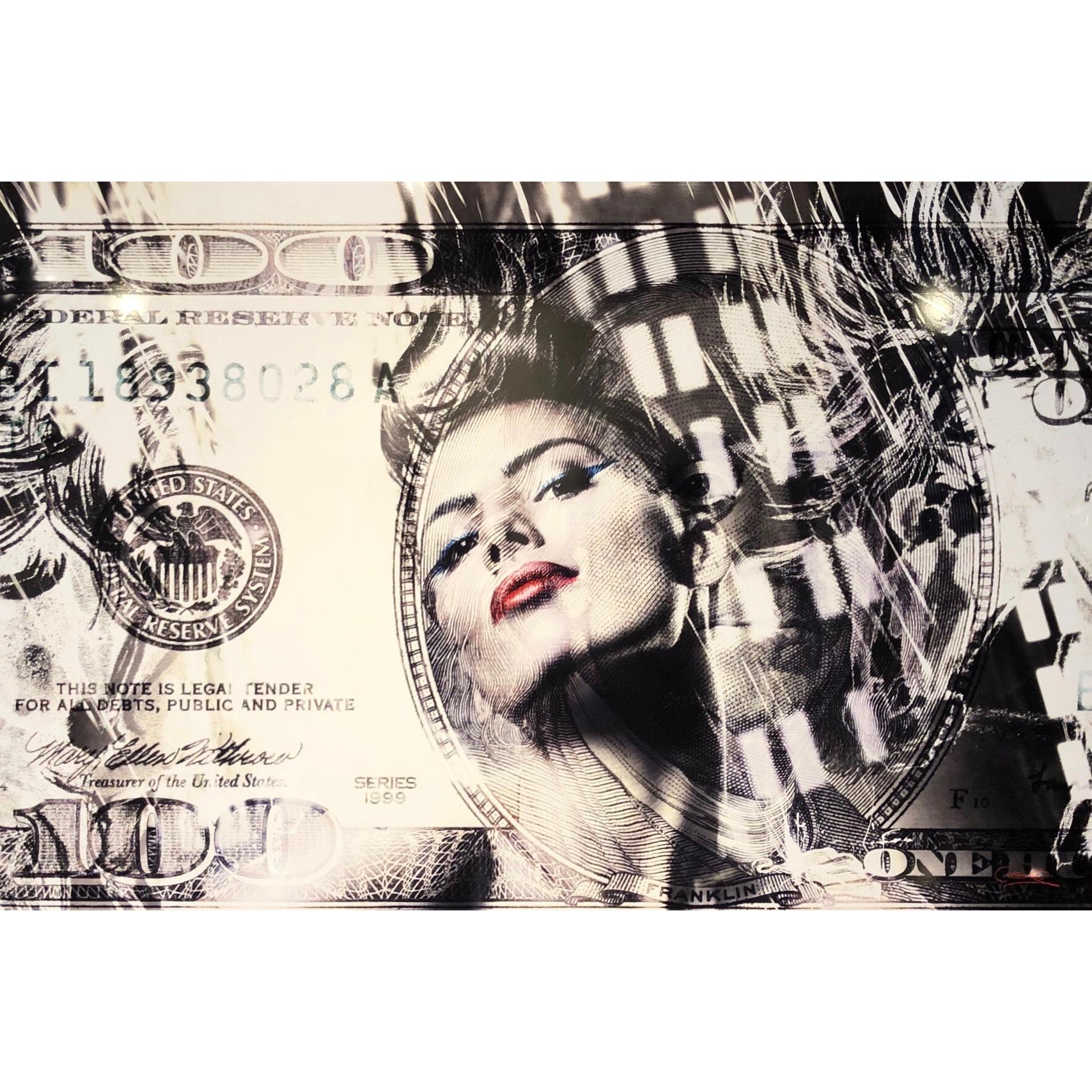 Foto op aluminium '100 dollar girl'