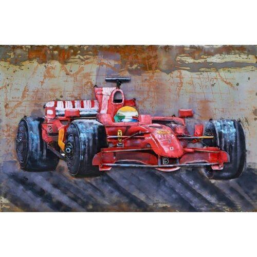 Metal Art 3D schilderij 'Formule 1 Ferrari'