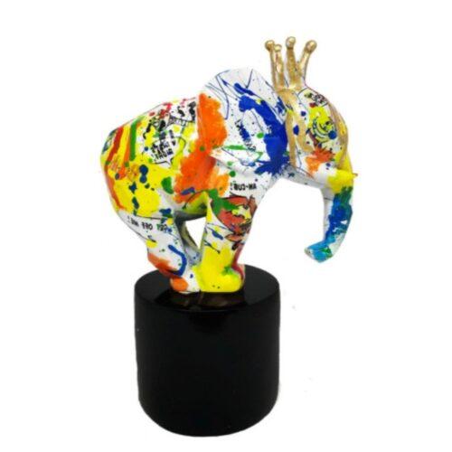 Didi Diaz beeld olifant 'Yellow graffiti'