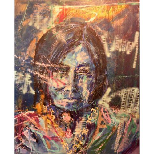 Espen Hagen origineel schilderij 'Chief's wife'