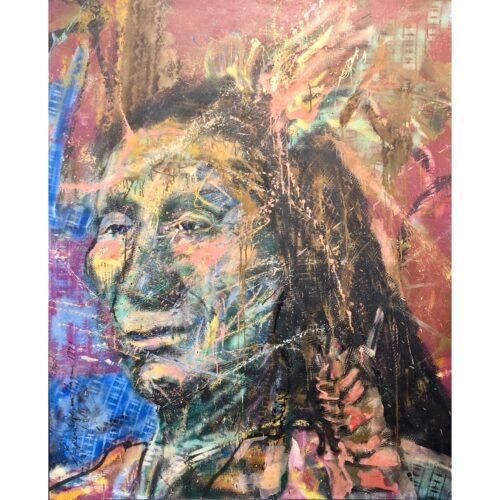 Espen Hagen origineel schilderij 'The Chief'