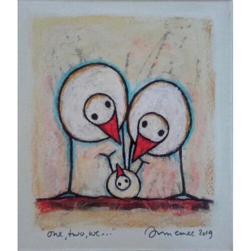 Hans Innemee schilderij 'One, two, we...'