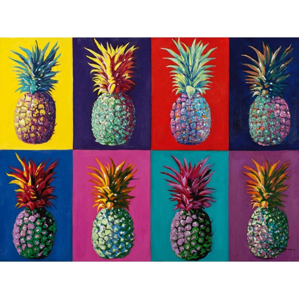 Schilderij op linnen 'Warhol style pineapple'