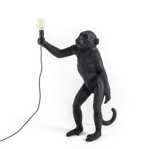 Seletti Monkey lamp 'Standing outdoor black'