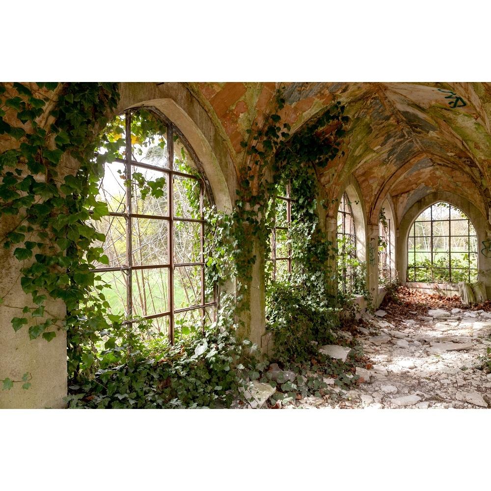 Urbex foto op plexiglas 'Lost floor with plants'