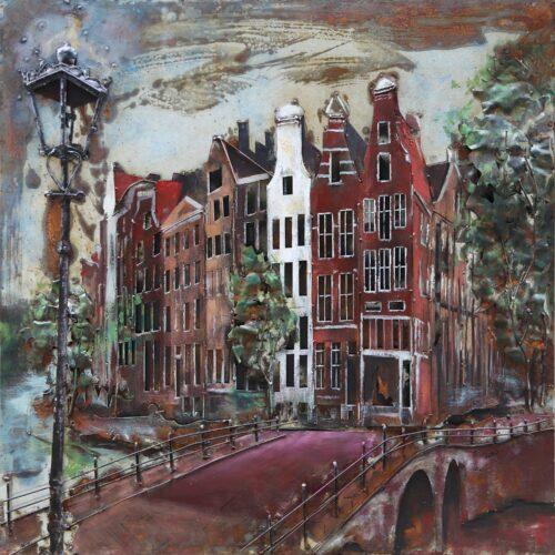 Metal Art 3D schilderij 'Amsterdam'