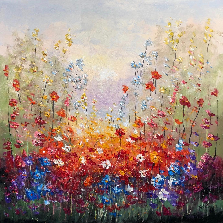 Jochem de Graaf schilderij 'Veldbloemen'