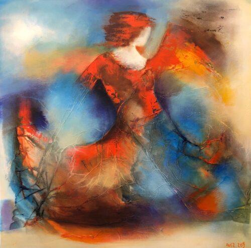 Wil Lof schilderij 'Mystery 1401
